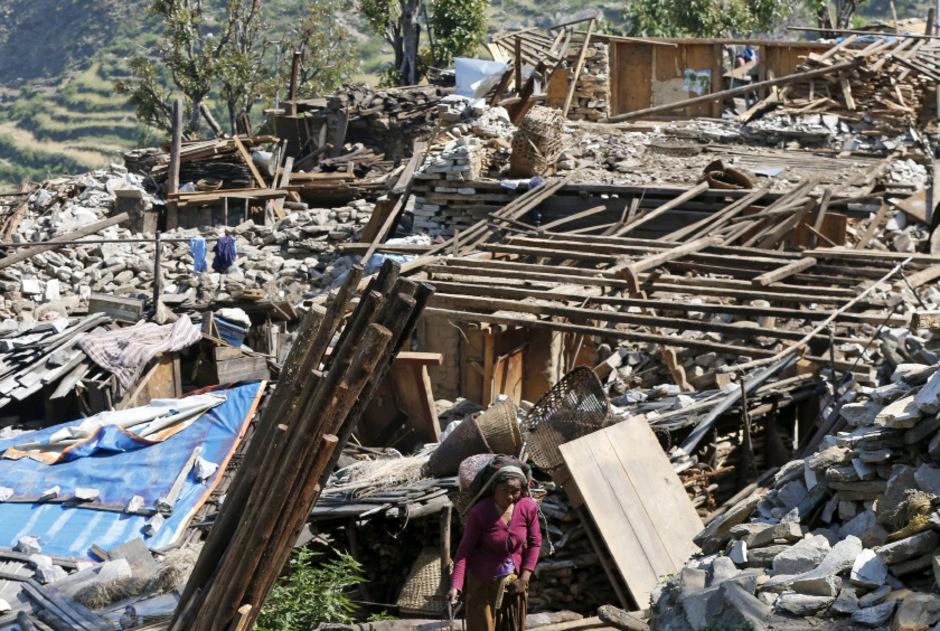"""Das """"Gorkha-Beben"""" von 2015 brachte Zerstörung, Tausende Verletzte und Tote."""