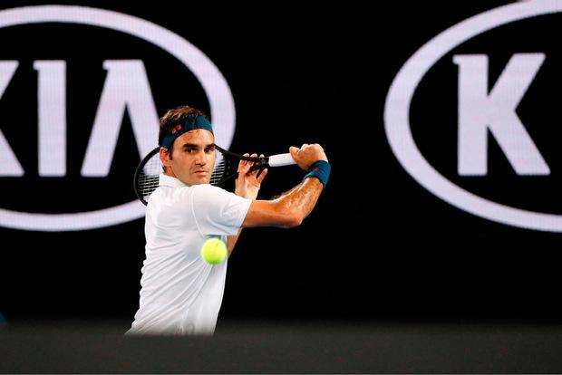 Roger Federer gewann am Freitag in Melbourne 6:2, 7:5, 6:2 gegen den Amerikaner Taylor Fritz.