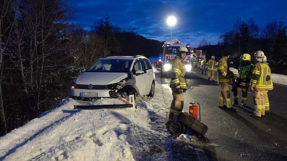 Eines der sieben am Unfall beteiligten Fahrzeuge.