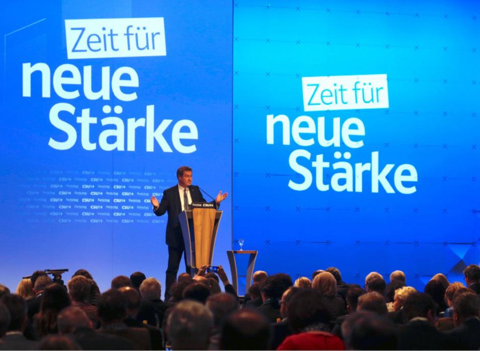 """""""Bayer wird man nicht nur durch Geburt, sondern durch Einstellung und Überzeugung"""", sagte Markus Söder in seiner Rede."""