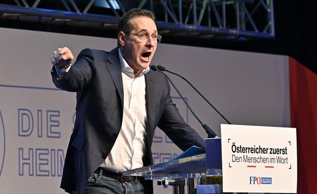 Vizekanzler Heinz-Christian Strache sieht seine Partei als Nachfolgepartei der SPÖ.