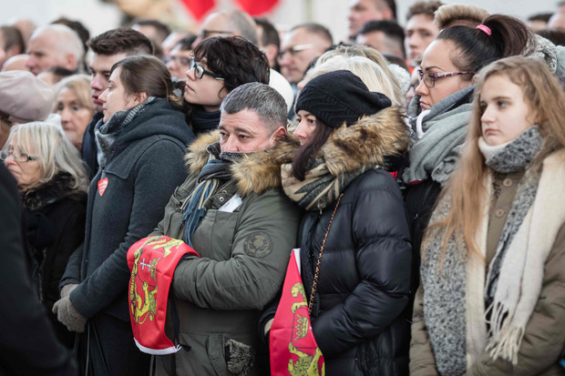 Die Bürger nahmen Abschied von Pawel Adamowicz.
