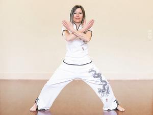 """Ernährungs-und Sportberaterin Elisabeth """"Li"""" Auer macht Qi Gong seit 20 Jahren."""