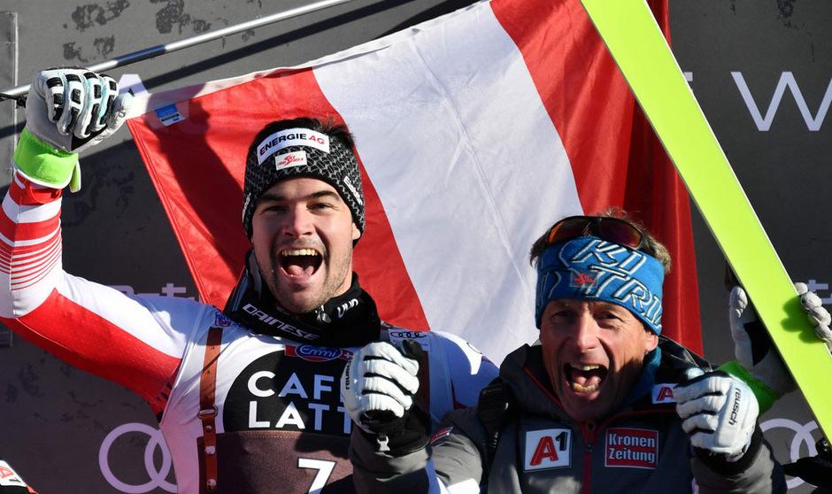 Vincent Kriechmayr tankte mit seinem Sieg in Wengen ordentlich Selbstvertrauen für Kitzbühel.