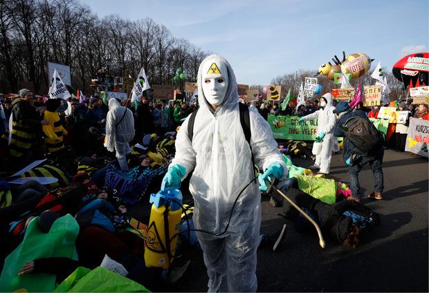 Das Aussterben von Insekten aufgrund von Pestiziden war auch Thema der Demonstrationen.