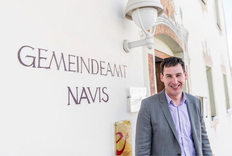 Lukas Peer, der neue Bürgermeister von Navis.