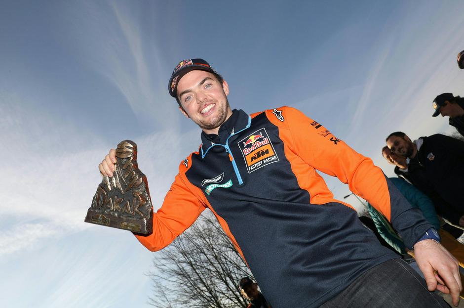 Matthias Walkner fuhr die Rallye Dakar verletzt zu Ende und wurde Zweiter.