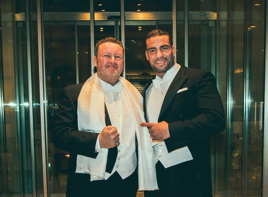 Manager mit Punch: Christian Jäger (links) mit seinem Schützling, Box-Weltmeister Manuel Charr.