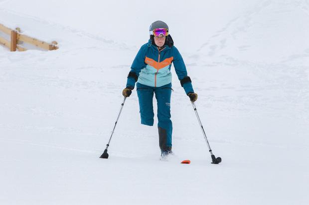 Am Ende der Saison will sie Skitouren gehen.