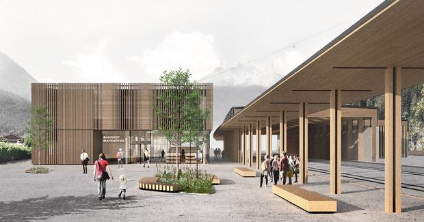 So wird der neue Bahnhof in Mayrhofen aussehen.