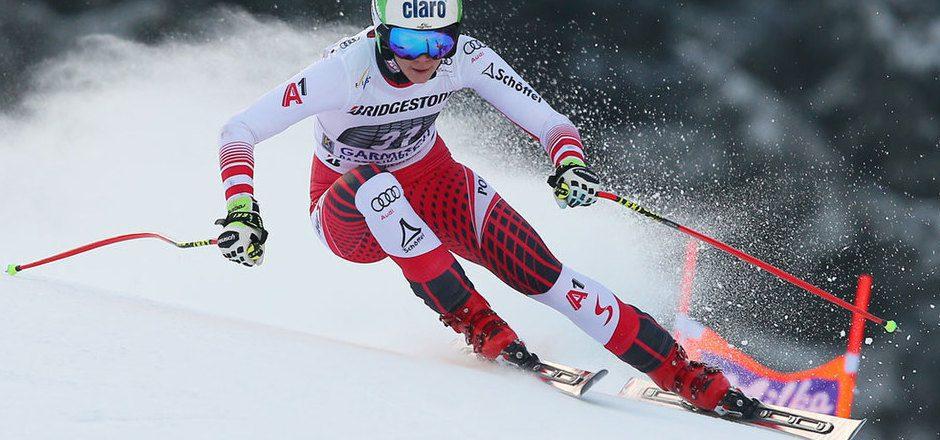 Mirjam Puchner überraschte im Garmisch-Training mit der schnellsten Zeit.