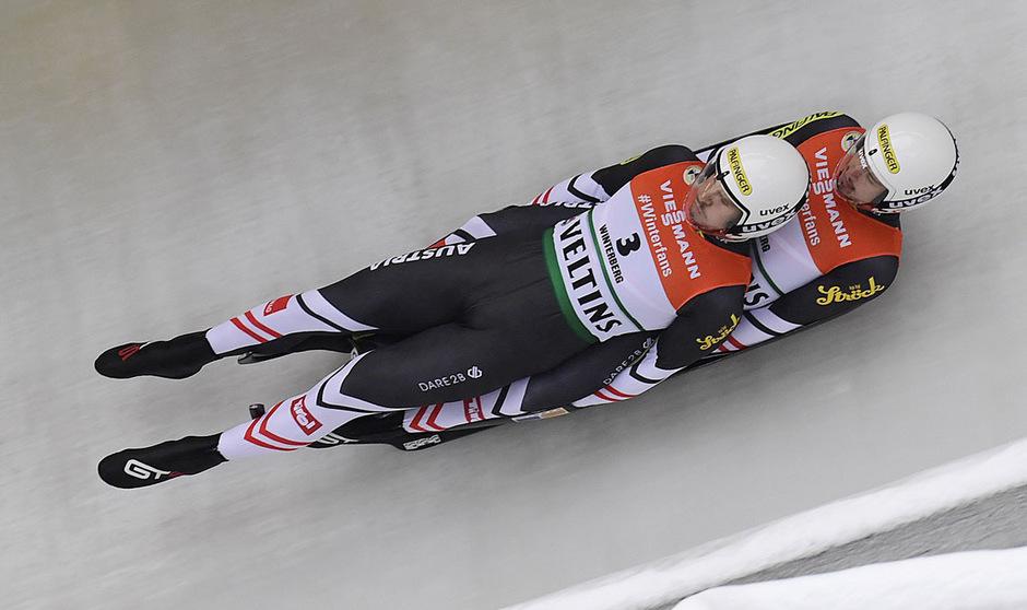 Thomas Steu und Lorenz Koller rodelten zu ihrer zweiten WM-Medaille innerhalb von 24 Stunden.