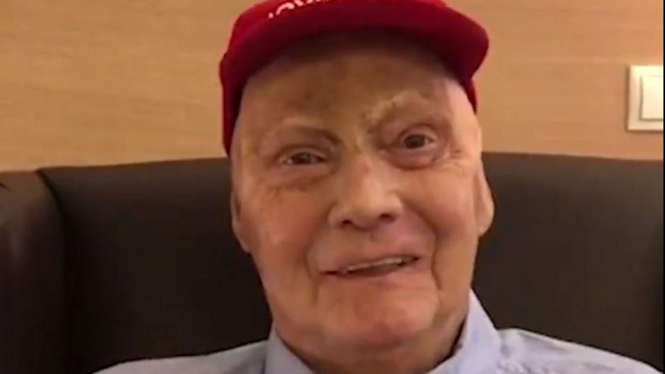 Der erster Video-Auftritt von Niki Lauda nach seiner Operation.