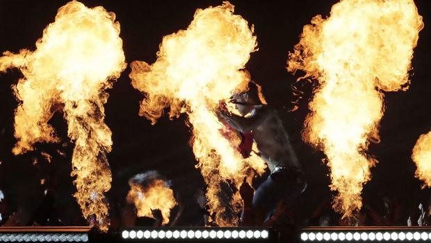 """Rapper Travis Scott heizte mit seinen Titeln """"Sicko Mode"""" und """"Like a Light"""" ein."""