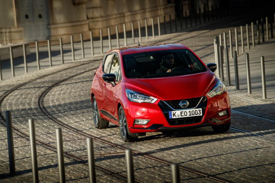 Kantig(er) ist der Nissan Micra vor zwei Jahren geworden, mit der 117-PS-Option wird er sportlich.