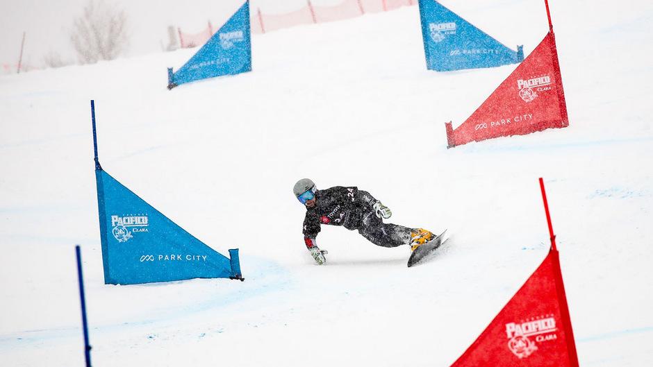 Der Vorarlberger Lukas Mathies musste sich dem Slowenen Tim Mastnak um 0,31 Sekunden geschlagen geben.