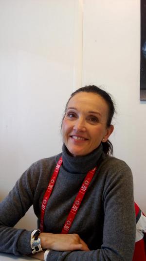 WM-Meteorologin Pia Hultgren.