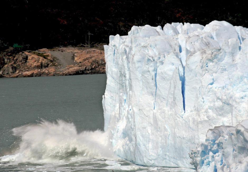 Gletscher in Patagonien. Der Klimawandel und seine Auswirkungen.