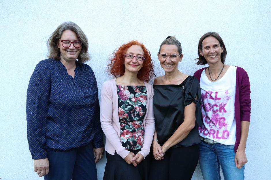 Das BEKiZ-Team: Monika Fritsch, Avelina Martinez-Löffler, Michaela Huber-Schmuck, Nicole Kindl-Brugger (v.l.).