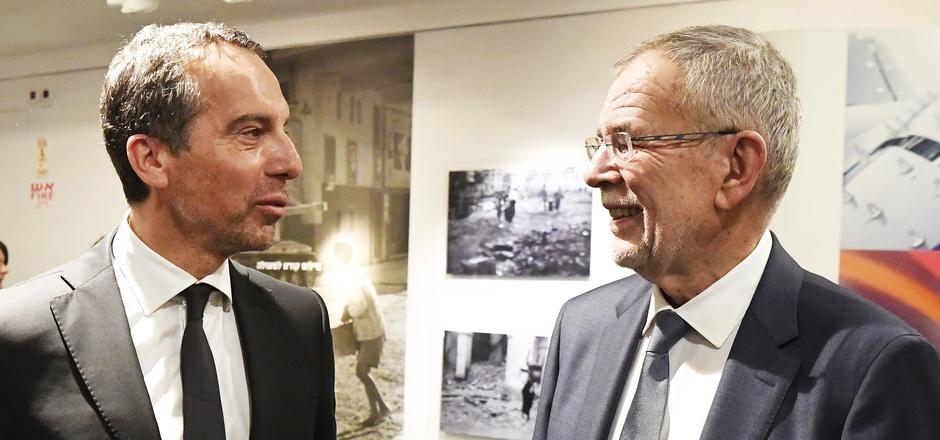 Alexander Van der Bellen und der ehemalige Bundeskanzler Christian Kern, der als Unternehmer in der israelischen Start-up-Szene aktiv ist.
