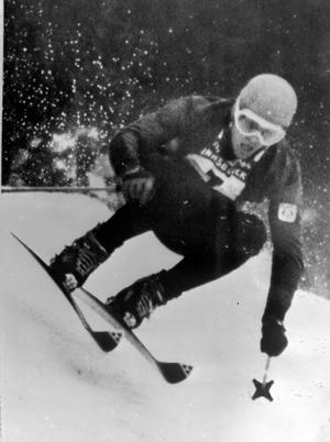 Am 30. Jänner 1964 raste Egon Zimmermann mit Startnummer 7 zu olympischem Abfahrtsgold auf dem Patscherkofel.
