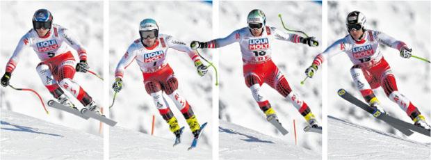 Wollen um die Medaillen mitreden: Mayer, Kriechmayr, Striedinger und Reichelt.