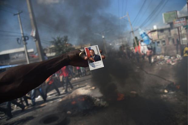 Die Demonstranten forderten den Rücktritt von Präsident Jovenel Moise.