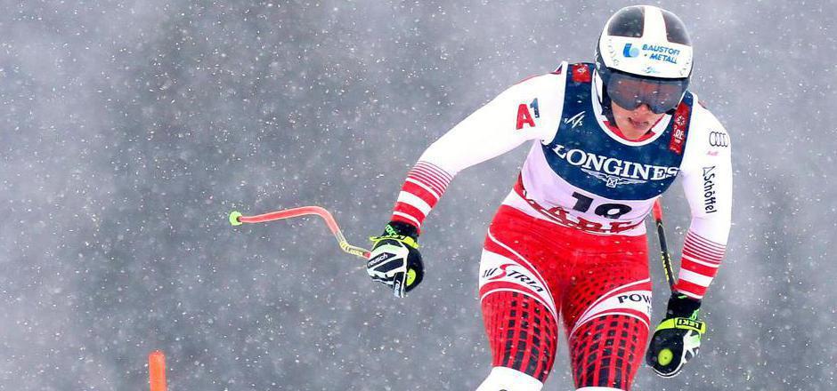 Ramona Siebenhofer während der Abfahrt der Alpinen Kombination der Damen im Rahmen der alpinen Ski-Weltmeisterschaften in Aare.
