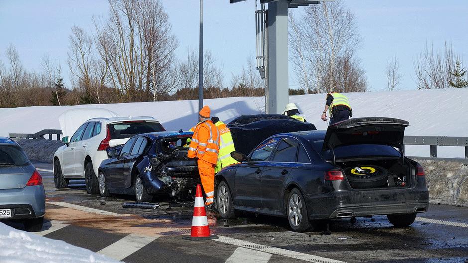 Der Unfall ereignete sich beim Grenztunnel Füssen.