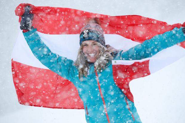 Holte überlegen Slalom-Gold: die Vorarlbergerin Magdalena Egger.