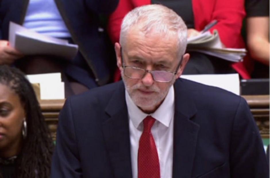 Labour-Parteichef Jeremy Corbyn im Parlament.