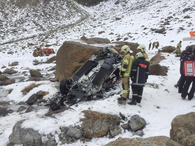 Das Autowrack, aus dem Albert Popov im November 2015 in Sölden rausgeholt wurde.