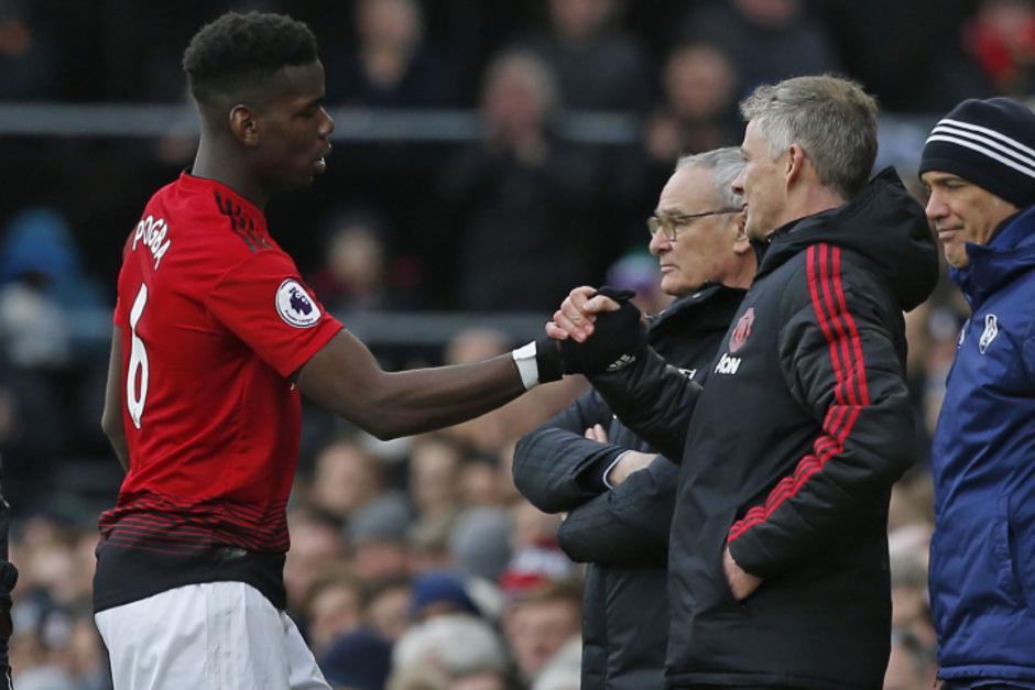 Seit Ole Gunnar Solskjaer (r.) bei Manchester United das Sagen hat, blüht Paul Pogba richtig auf.