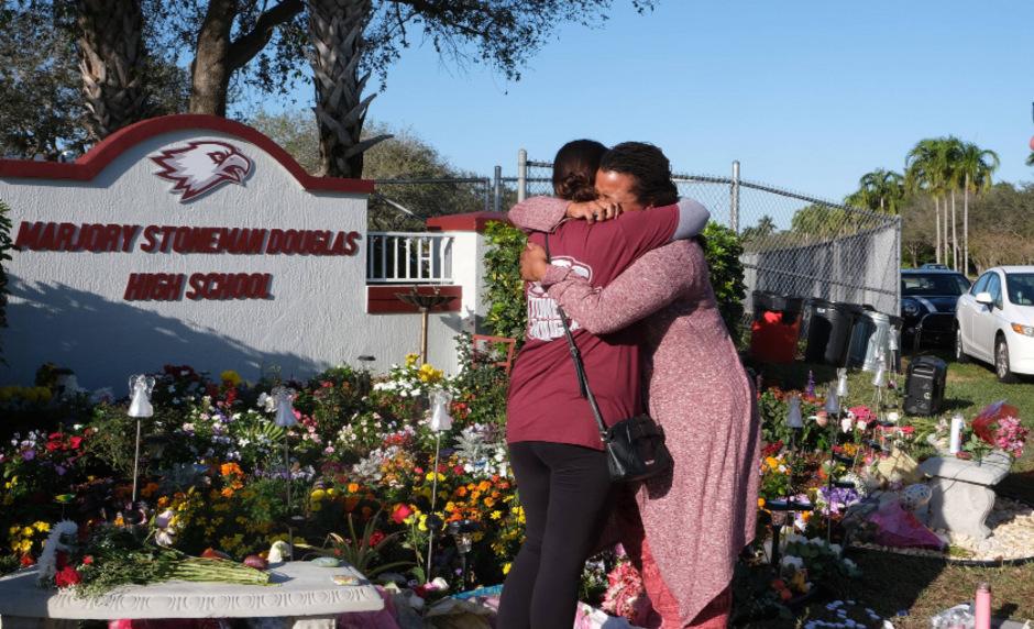 Gedenken in Parkland ein Jahr nach dem Schulmassaker an der Marjory Stoneman Douglas High School.