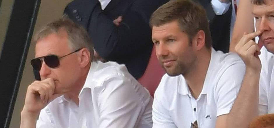 Reschke (l.) muss beim VfB gehen, Hitzelsperger übernimmt.