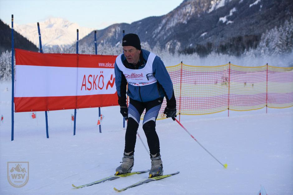 Peter Troger ist ein begeisterter Langläufer. Bei der Deferegger Langlaufmeisterschaft war er eine Klasse für sich.