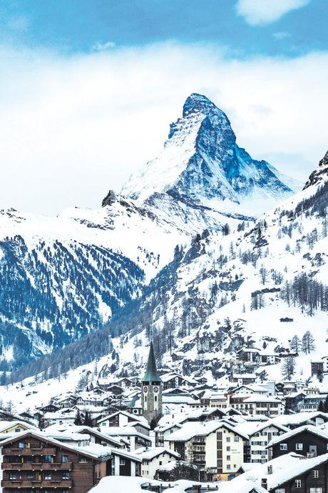 Das Matterhorn dominiert Zermatt.