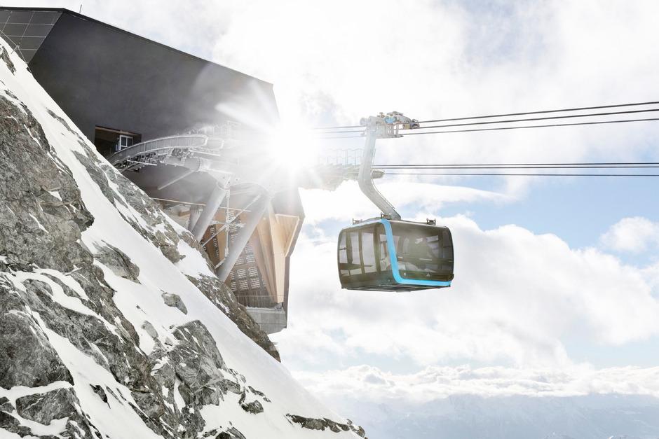 Die Bergstation der Glacier Ride liegt auf 3821 Metern Höhe – das ist Europa-Rekord.