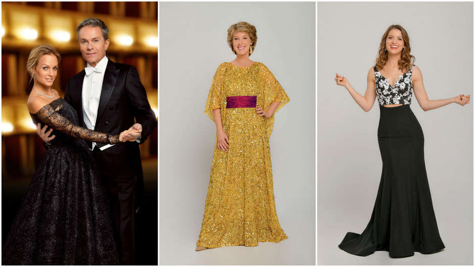 Die ORF-Moderatoren im Opernball-Outfit: Mirjam Weichselbraun, Alfons Haider, Barbara Rett und Kristina Inhof.