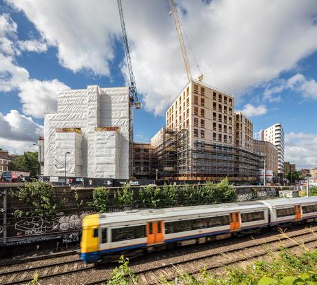 Die Tiroler Firma binderholz lieferte die Brettsperrholz-Wände für ein 2017 fertig gestelltes Gebäude in London.