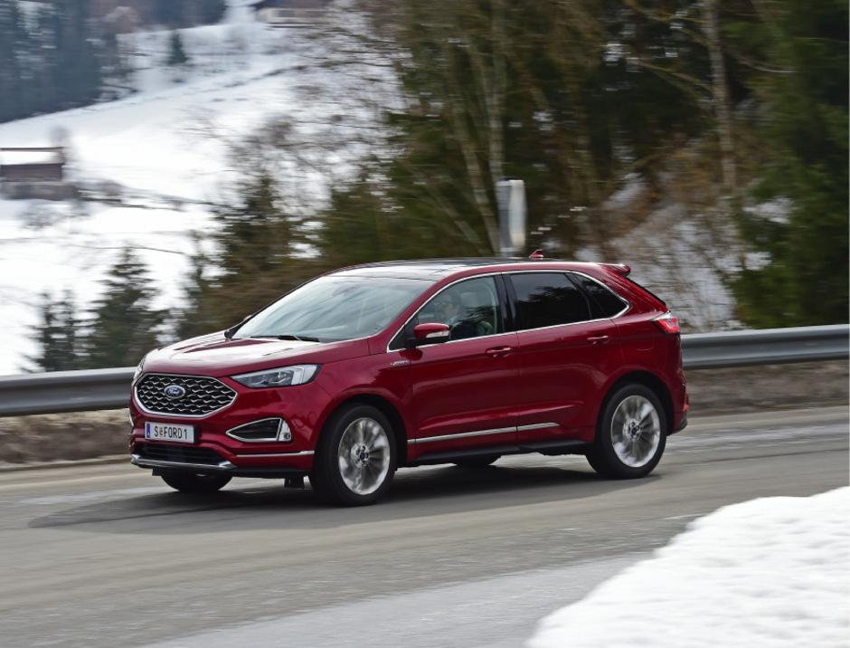 Ford Edge, Optik- & Technik-Lift: Die Kantigkeit durch Retuschen unterstrichen, die Kommunikativität nochmals erhöht.
