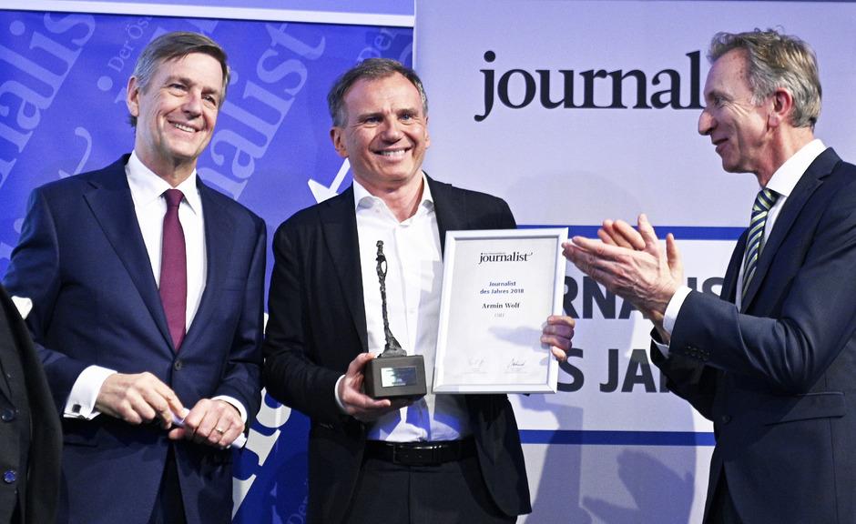 """Armin Wolf als """"Journalist des Jahres"""" geehrt"""