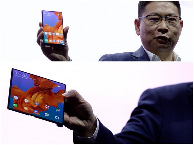 Im geschlossenen Zustand ist das Mate X ein nur 11 Millimeter dickes Smartphone mit einem 6,6 Zoll großem Display. Ausgeklappt kann der Bildschirm zwei Apps parallel anzeigen.