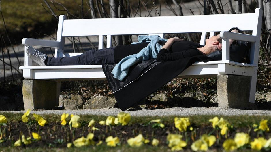 Sonnenbad im Februar: Frühlingshafte Temperaturen wurden am Donnerstag vielerorts gemessen.