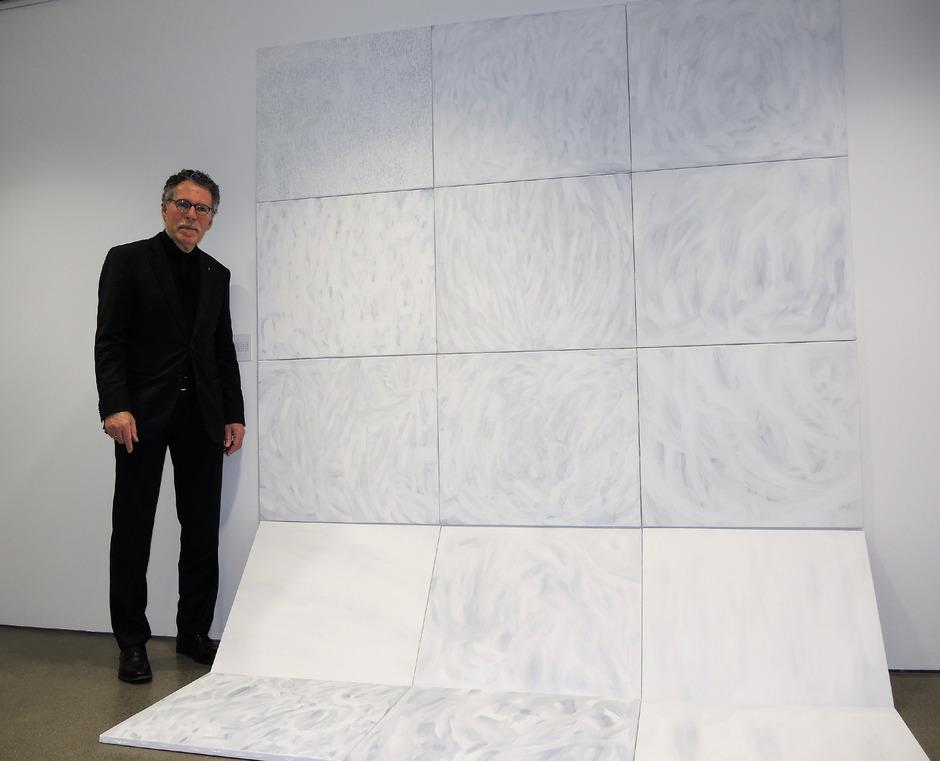 """Unter dem Titel """"Fels und Schnee"""" zeigt Elmar Peintner seine künstlerischen Annäherungen an die monumentalen Naturgewalten."""