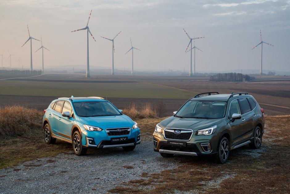 Vorab gab's die Gelegenheit, den mild-hybridisierten Subaru-Boxer zu fahren, sowohl im neuen Forester als auch den Top-Seller XV.