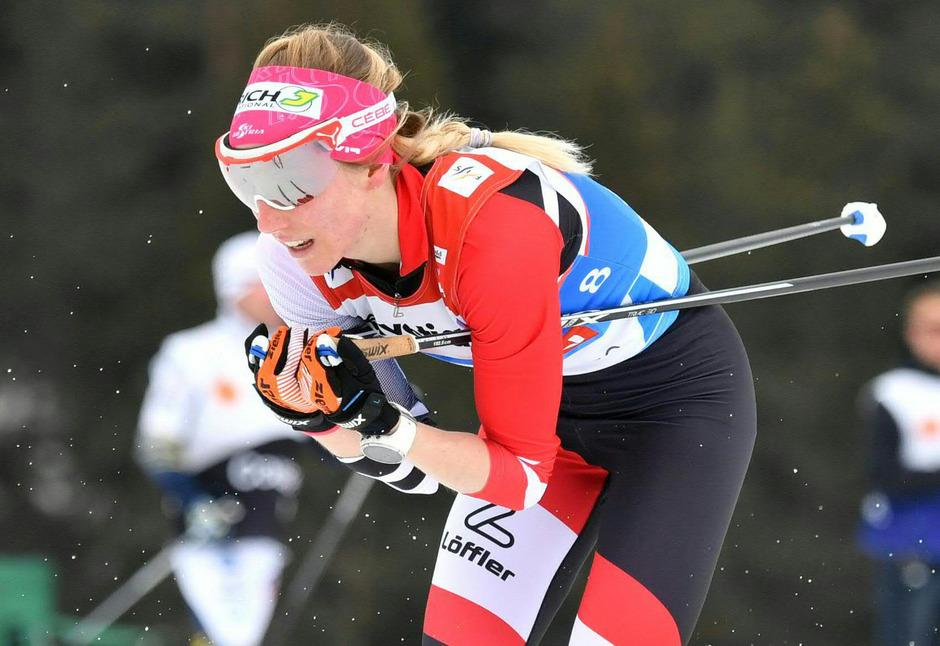 Teresa Stadlober schlug sich wacker über die 30 Kilometer.