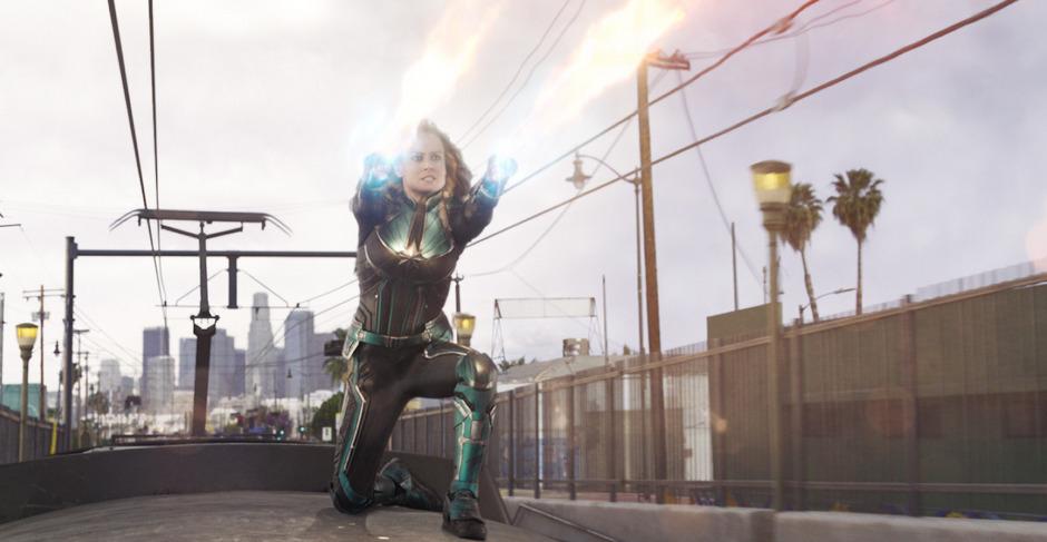 Oscar-Preisträgerin Brie Larson gibt als Captain Marvel ihr Debüt in der inzwischen auf 21. Filme angewachsenen Marvel-Superhelden-Reihe.
