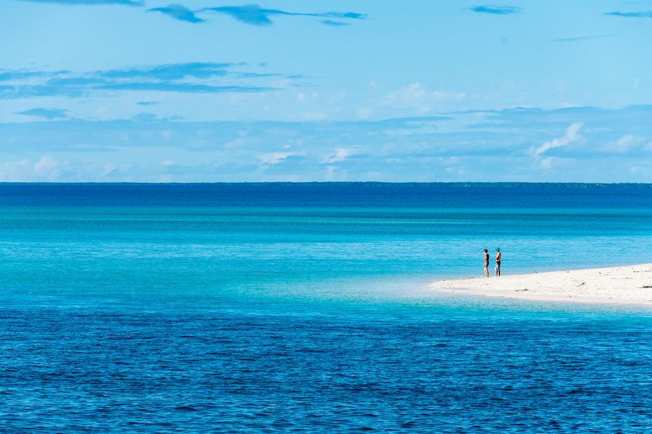 Die Insel Ouvea scheint aus einem einzigen endlosen Sandstrand zubestehen.