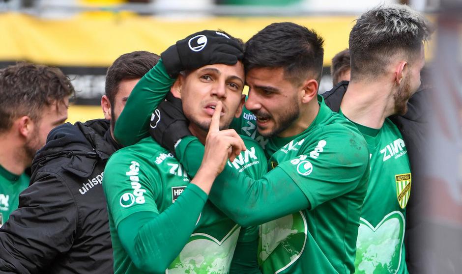 Austria Lustenau durfte endlich wieder einmal über drei Punkte jubeln.